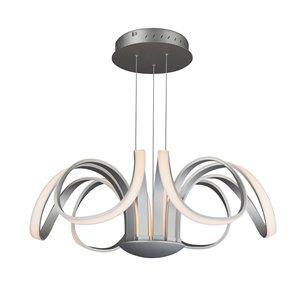 Lustre Capella VONN Lighting, lumière DEL, 29,92 po, argent