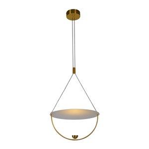 Luminaire suspendu Como VONN Lighting, DEL, 15,75 po, laiton antique