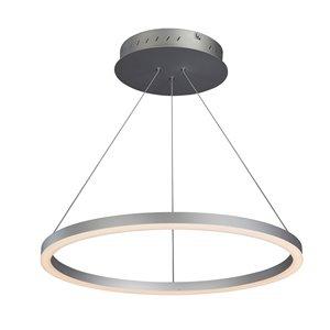 Lustre Tania VONN Lighting, lumière DEL, 23,5 po, argent
