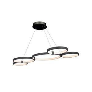 Lustre Capella VONN Lighting, lumière DEL, 31,5 po, noir