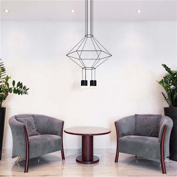 VONN Lighting Expression LED Pendant Light - 27.25-in - Black