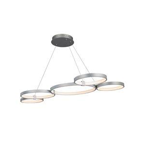 Lustre Capella VONN Lighting, lumière DEL, 31,5 po, argent