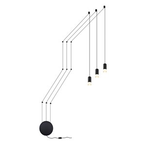 Luminaire suspendu Expression VONN Lighting, DEL, 11 po, noir
