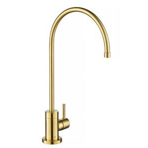 Kraus Purita Kitchen Water Filter Faucet - Brushed Brass