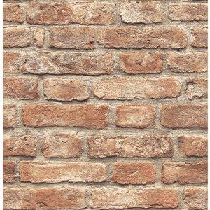 Scott Living Brick Revival Self-Adhesive Wallpaper - 20.5-in x 18-ft - Red