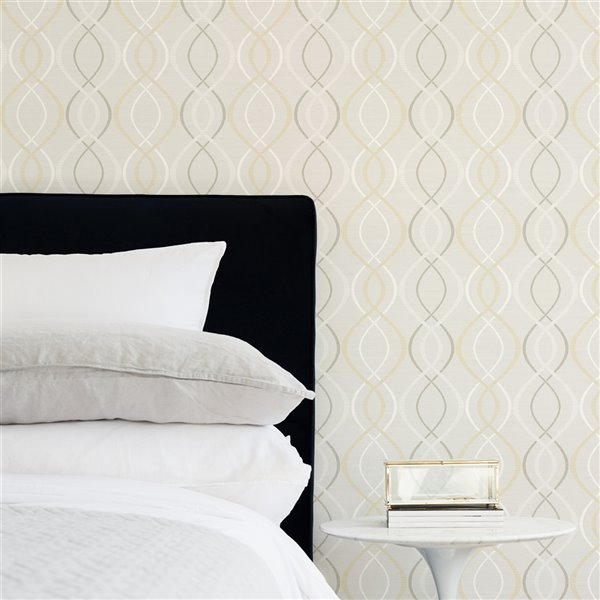 Scott Living Relativity Self-Adhesive Wallpaper - 20.5-in x 18-ft - Beige/Taupe