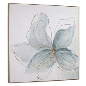 Gild Design House Wall Art Decor Flor Azul - 40-in x 40-in