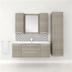 Cutler Kitchen & Bath Silhouette Vertical Rectangular Mirror - Grey