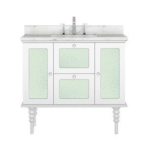 Vanité de la collection Elyse de Bano Design, 36 po, blanc