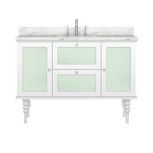 Vanité de la collection Elyse de Bano Design, 48 po, blanc