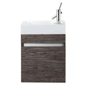 Cutler Kitchen & Bath Piccolo Collection Vanity - 18-in - Brown