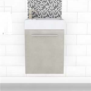 Cutler Kitchen & Bath Boutique Collection Vanity - 18-in - Gray