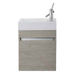 Cutler Kitchen & Bath Piccolo Collection Vanity - 18-in - Off-white