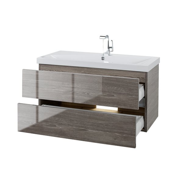 Cutler Kitchen & Bath Sangallo Gloss Collection Vanity - 36-in - Brown