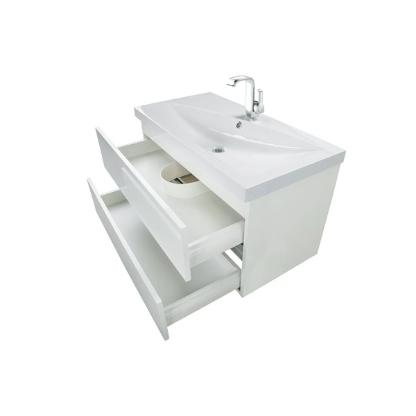 Cutler Kitchen & Bath Sangallo Gloss Collection Vanity - 36-in - White