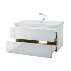Cutler Kitchen & Bath Sangallo Gloss Collection Vanity - 36-in - White