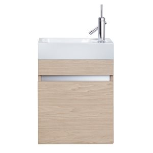 Cutler Kitchen & Bath Piccolo Collection Vanity - 18-in - Brown/Tan