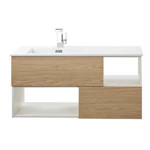 Cutler Kitchen & Bath Sangallo Woodgrain Collection Vanity - 42-in - Brown/Tan