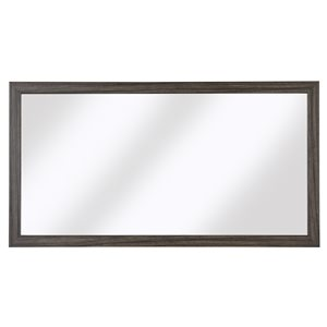 Cutler Kitchen & Bath Sangallo Woodgrain Horizontal Rectangular Mirror - Black