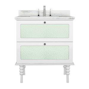 Vanité de la collection Elyse de Bano Design, 29 po, blanc