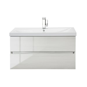 Cutler Kitchen & Bath Sangallo Gloss Collection Vanity - 36-in - Off-white
