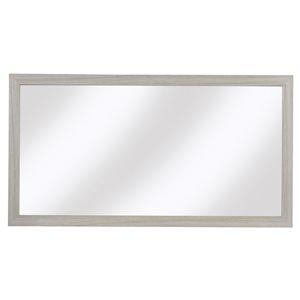 Miroir horizontal rectangulaire Sangallo Woodgrain de Cutler Kitchen & Bath, blanc cassé