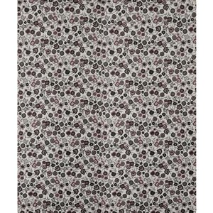 Dundee Deco Falkirk McGowen Peel and Stick Wallpaper Floral Printed Black, Grey, Red Stylized Flowers - 26.6 Sq. ft.