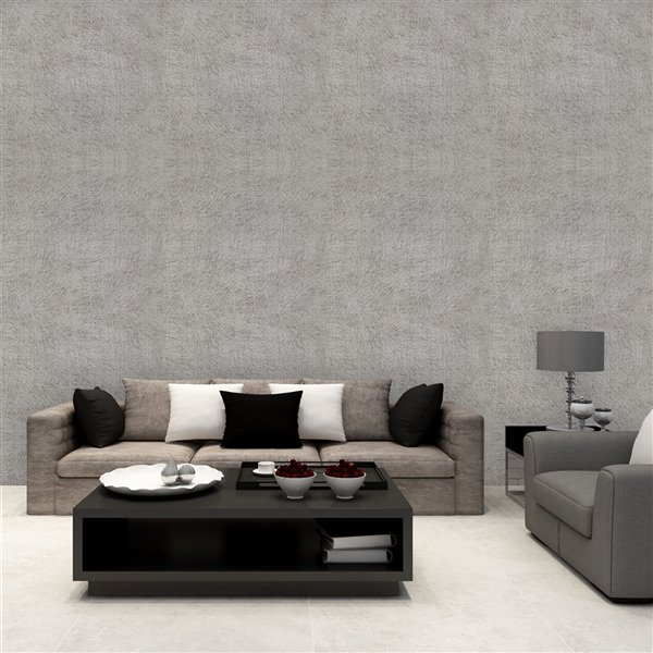 Dundee Deco Falkirk McGowen Peel and Stick Wallpaper Random Grey Lines - 35.5 Sq. ft.