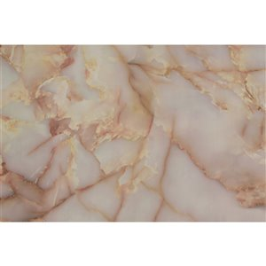Dundee Deco Falkirk McGowen Peel and Stick Wallpaper Distressed Marble Beige, Yellow Patina Marble - 26.6 Sq. ft.