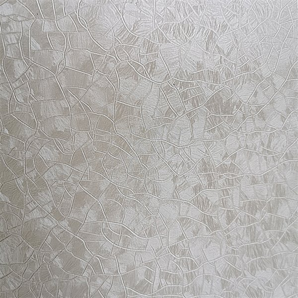 Dundee Deco Falkirk McGowen Peel and Stick Wallpaper Abstract Alabaster White, Light Beige Crackles - 35.5 Sq. ft.