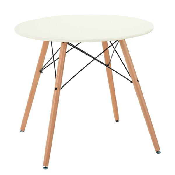 Table de salle à dîner ou salle de conférence FurintureR ronde, 31,5 po