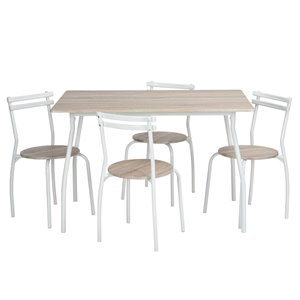 FurnitureR Dining Set 5 Piece