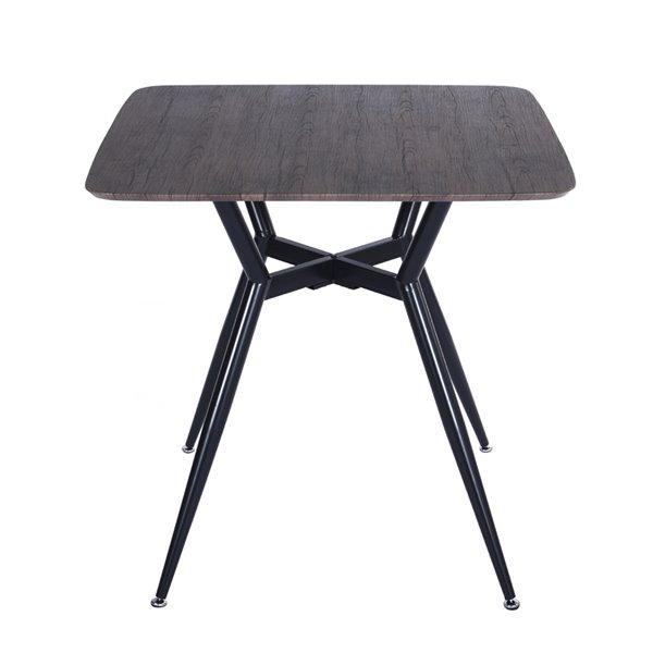 Table de conférence FurnitureR carrée en bois massif, 31,5 po