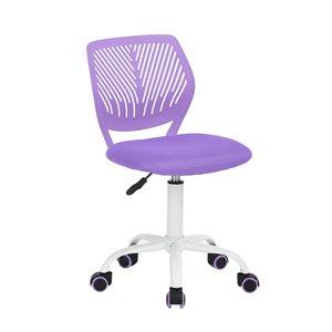 Chaise de bureau de travail et dossier en mailles respirant CARNATION FurnitureR, violet