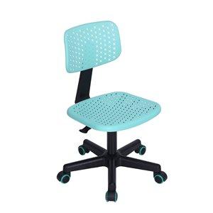 Chaise de bureau colorée IWC FurnitureR avec 5 roulettes, turquoise
