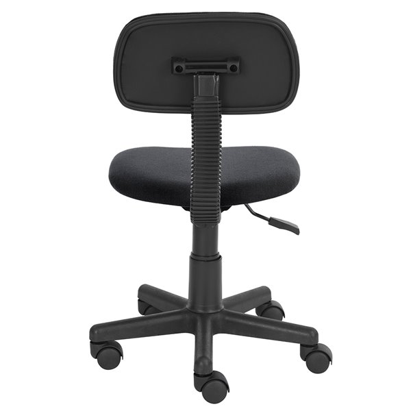 FurnitureR YANYAN001 Classic Style Office Chair Small with 5 Casters - Black