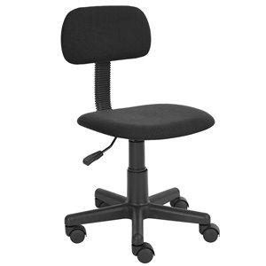 Chaise de bureau YANYAN001 FurnitureR de style classique, noire