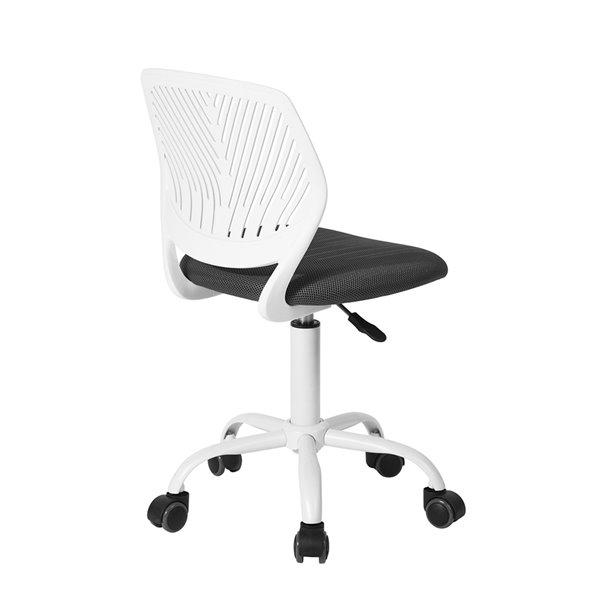 Chaise de bureau de travail et dossier en mailles respirant CARNATION FurnitureR, grise