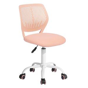Chaise de bureau CARNATION FurnitureR et dossier en mailles respirant, rouge