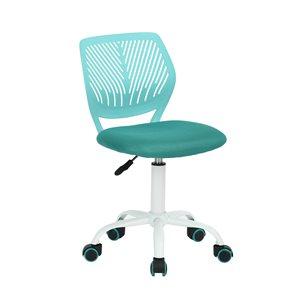 Chaise de bureau CARNATION FurnitureR et dossier en mailles respirant, turquoise