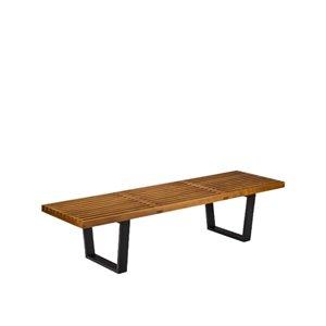 Plata Import Nelson Wood Bench - Medium - Walnut