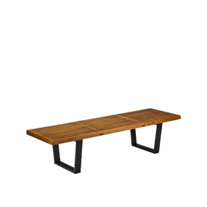 Plata Import Nelson Wood Bench - Large - Walnut