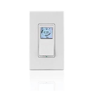 Minuterie programmable câblée de Warmly Yours, blanc