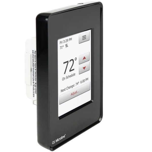Thermostat tactile nSpire programmable avec capteur de Warmly Yours