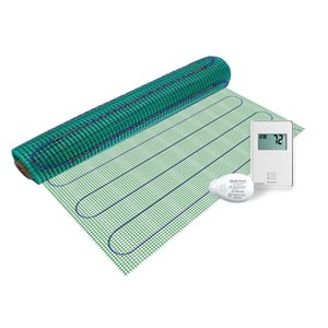 Warmly Yours Floor Heating Kit with Non Prog Thermostat - 120 V - 3 ft. x 8 ft.