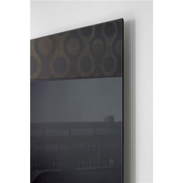 Panneau chauffant câblé Ember de Warmly Yours, 600 W, noir