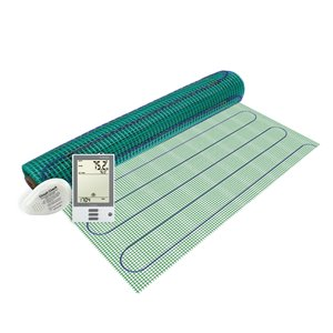 Warmly Yours Floor Heating Kit with Prog Thermostat - 120 V - 3 ft. x 3 ft.