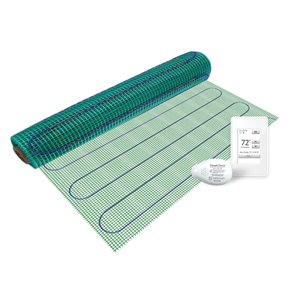 Warmly Yours Floor Heating Kit with Wi-Fi Thermostat - 120 V - 3 ft. x 10 ft.