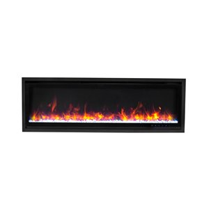 Paramount Kennedy II Commercial-Grade Recessed and Surface Mounted Electric Fireplace - 50-in - 5000 BTU - Black