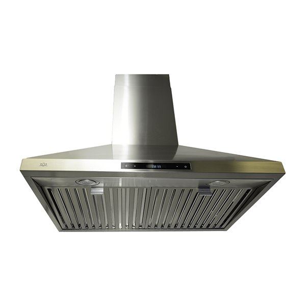 Lotus Wall Mounted Range Hood With 6 Speed Levels 900 Cfm 30 In Lts801 Rona